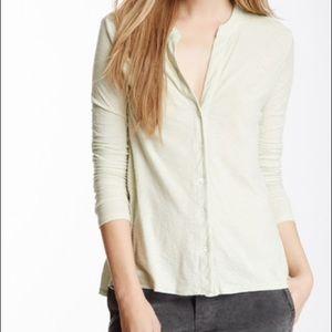 Cotton long sleeve casual button top
